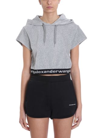 T by Alexander Wang Corduroy Hooded Sweatshirt