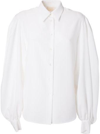 Sara Battaglia Blouson Sleeves Shirt
