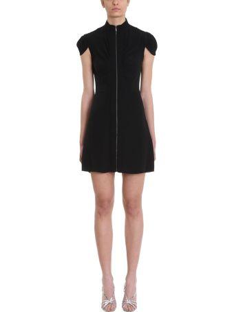 Givenchy Black Crepe Zip Dress