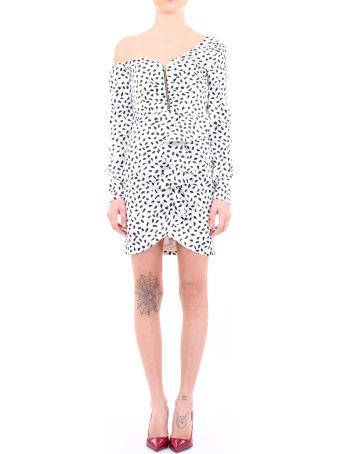 self-portrait Dress Polka Dots White