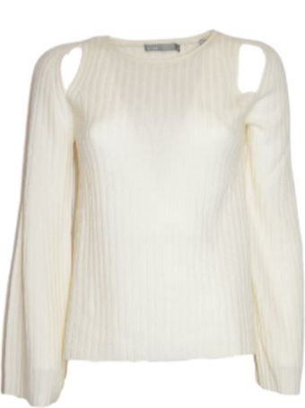 Vince Cut-out Ribbed Jumper