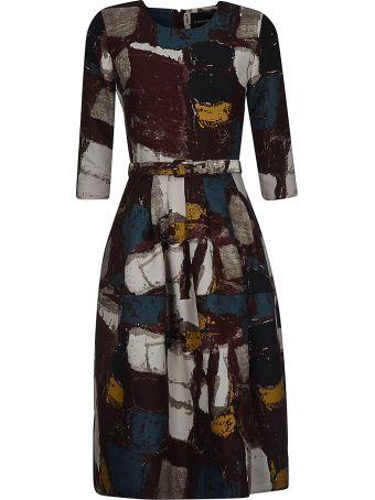 Samantha Sung Printed Belted Dress