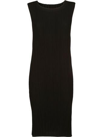 Issey Miyake Midi Pleated Dress