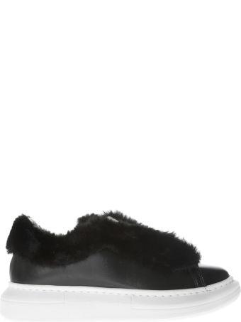 Gaelle Bonheur Fur-detail Sneakers