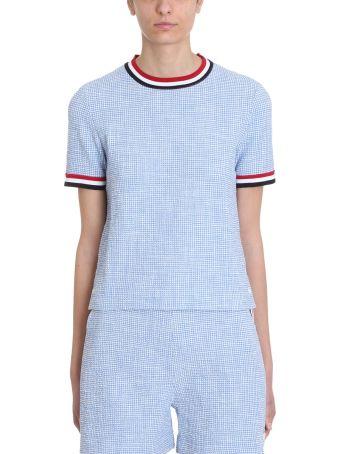Thom Browne Light Blue Piqu? T-shirt