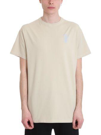 Filling Pieces Beige Cotton T-shirt