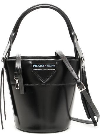 Prada Leather Ouverture Bucket Bag