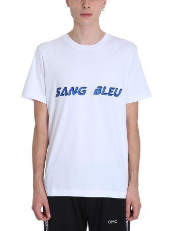 OMC Sang Bleu White Cotton T-shirt