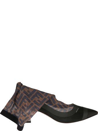 Fendi Ff Motif Sock Ankle Boots