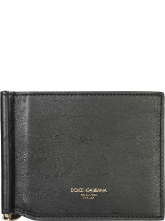 Dolce & Gabbana  Genuine Leather Money Clip Wallet