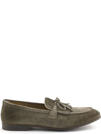 Doucal's Taupe Suede Loafer