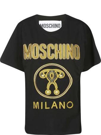 Moschino Logo Embroidered T-shirt