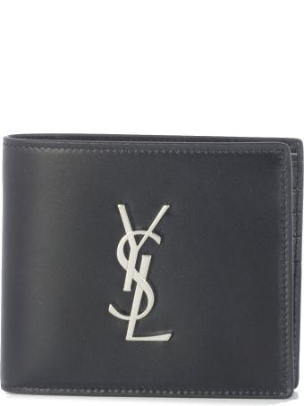 Saint Laurent East/west Monogram Wallet
