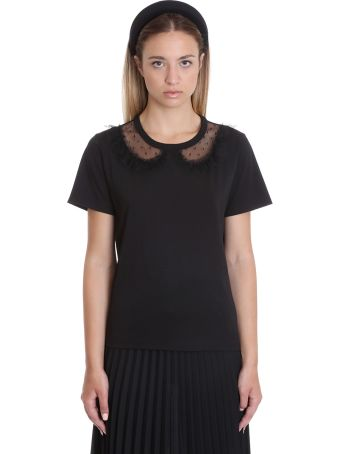 RED Valentino T-shirt In Black Cotton