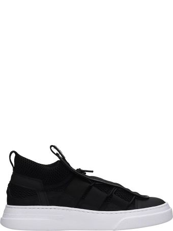 Bruno Bordese Sneakers In Black Tech/synthetic