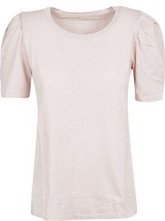 Velvet Ruffled Sleeves T-shirt