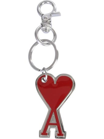 Ami Alexandre Mattiussi Key Ring With Logo