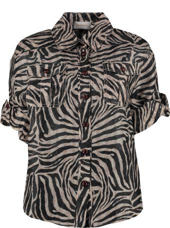 Zimmermann Zebra Print Safari Shirt