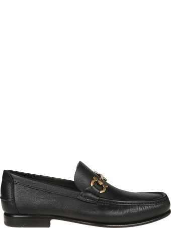 Salvatore Ferragamo Logo Hardware Loafers