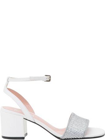 Pollini Silver Sandals