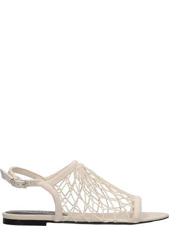 Sonia Rykiel Beige Canvas Flat Sandals
