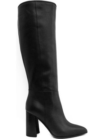 Dei Mille Black Leather Over-the-knee Boots.