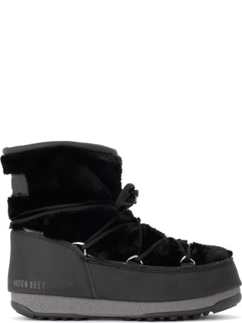 Moon Boot Monaco Low Fur Black Eco Fur Moon Boot