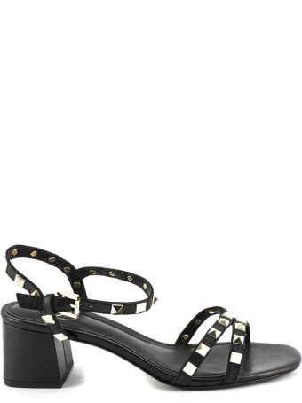 Ash Iggy Sandals In Black Leather