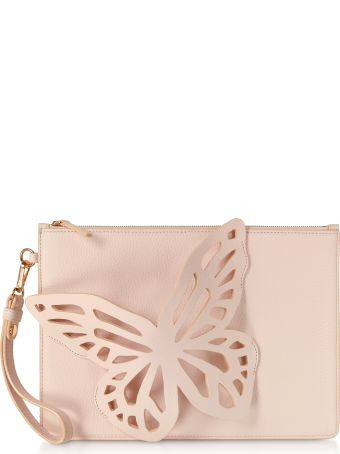 Sophia Webster Sunkissed Pink Flossy Butterfly Pouchette