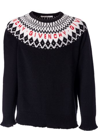 Givenchy Fair Isle Logo Sweater