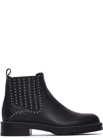 Janet & Janet Marcella Ankle Boots In Black Leather