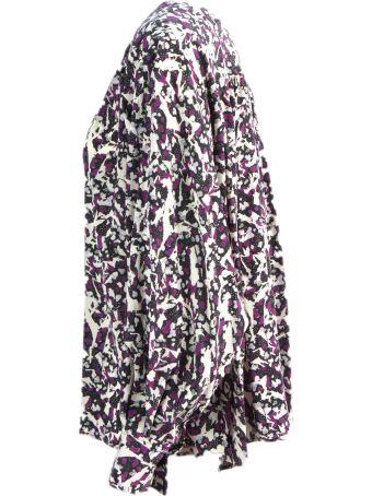 Isabel Marant Printed Tie Silk Blouse