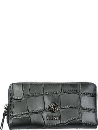 Versus Versace  Wallet Genuine Leather Coin Case Holder Purse Card Lion Head