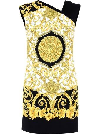 Versace Dress With Baroque Print
