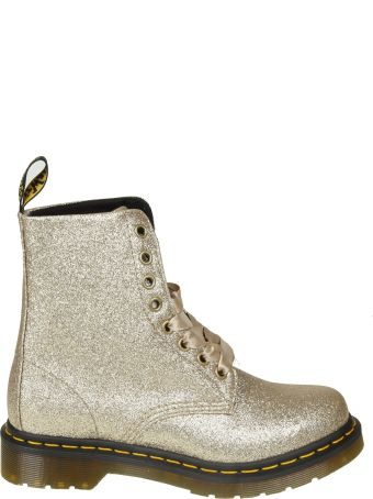 "Dr. Martens Dr.martens ""pascal"" Boots In Gold Glittered Leather"