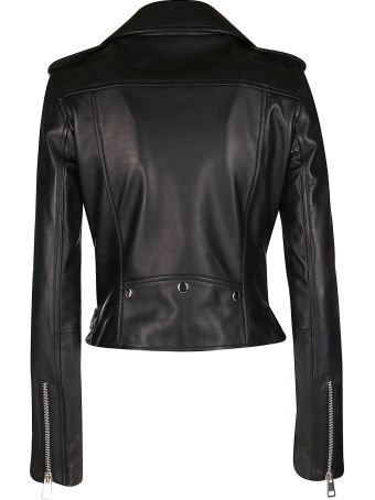 Manokhi Black Leather Jacket