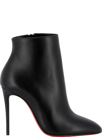 Christian Louboutin Black Leather Ankle Boots