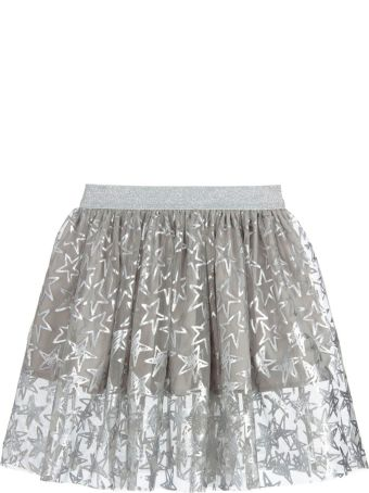 Stella McCartney Kids Tulle Skirt Silver For Girl