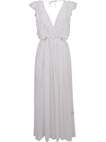Fisico - Cristina Ferrari Fisico Ruffled Sleeveless Dress