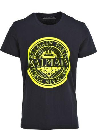 Balmain Balmain Coin Logo  Print T-shirt