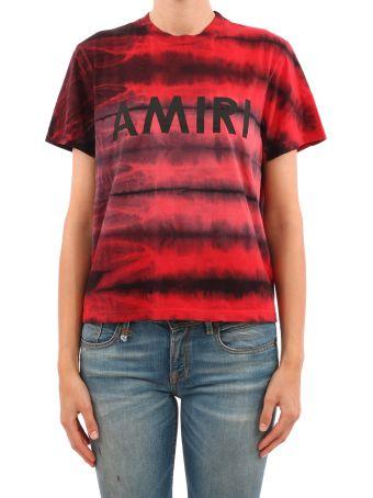 AMIRI Red Crewneck T-shirt