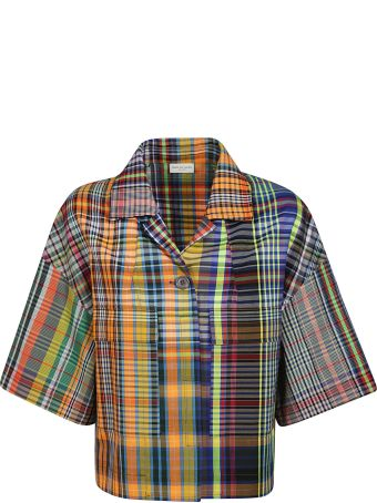 Dries Van Noten Checked Cropped Jacket