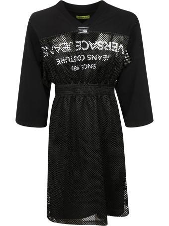 Versace Mesh Jersey Dress