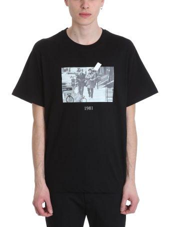 Throw Back Donnie Black Cotton T-shirt