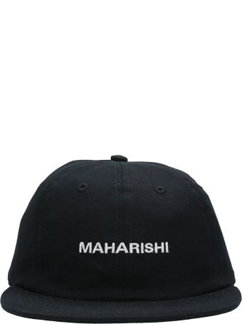 Maharishi Panel Black Cotton Cap