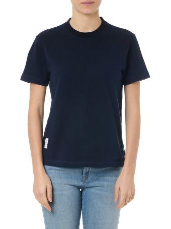 Thom Browne Blue Navy Cotton Striped T-shirt