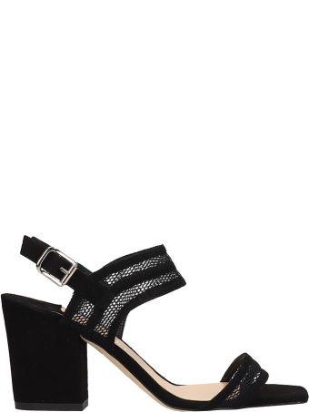 The Seller Black Suede Sandals