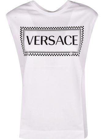 Versace Logo Sleeveless Tank Top