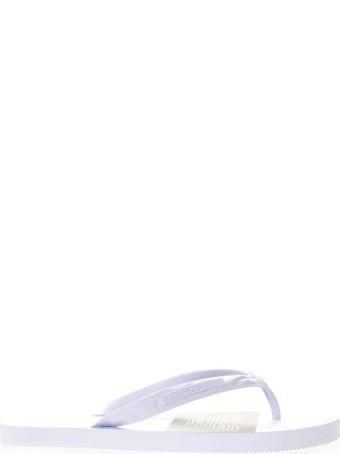 Emporio Armani White Rubber Sandals