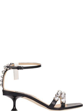 Sergio Rossi Black Leather Sandals